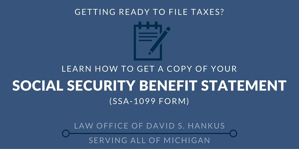 Social Security Benefit Statement Ssa 1099 Form Ss Claim